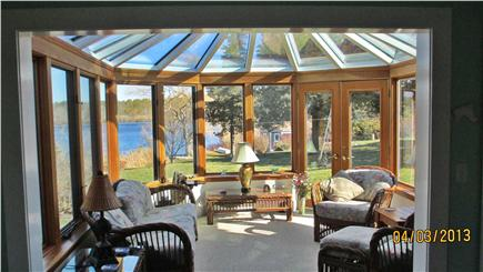 Hyannisport Cape Cod vacation rental - English conservatory with views across Simmons Pond