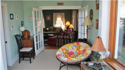Hyannisport Cape Cod vacation rental - Family room with French doors for privacy