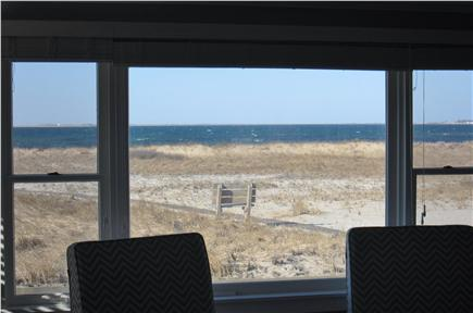 North Truro - Beach Point Cape Cod vacation rental - Enjoy the gorgeous view of the bay from the living room