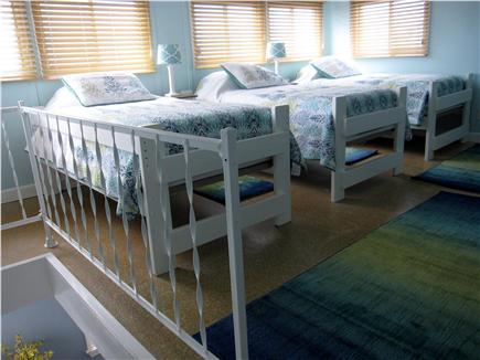 North Truro - Beach Point Cape Cod vacation rental - Loft bedroom has three freshly painted beds with new mattresses