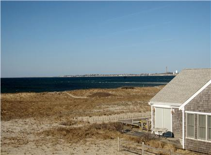 North Truro - Beach Point Cape Cod vacation rental - View of the Provincetown monument from the loft bedroom