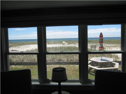 North Truro - Beach Point Cape Cod vacation rental - Enjoy the gorgeous view of Cape Cod bay from the living room!!