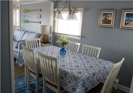 North Truro - Beach Point Cape Cod vacation rental - The dining room comfortably seats all guests
