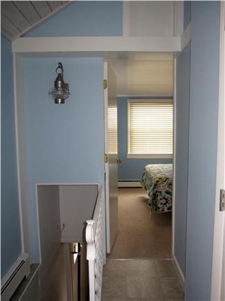 North Truro - Beach Point Cape Cod vacation rental - Hallway looking toward master bedroom and stairs to lower level
