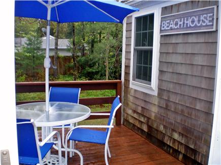 Centerville, craigville village Centerville vacation rental - Dine out on the deck Seating for 6