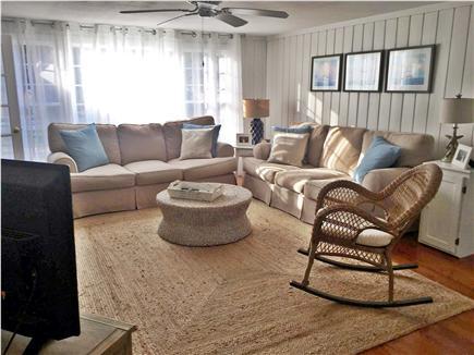 Centerville, craigville village Centerville vacation rental - living room with 2 new sofas & rocker