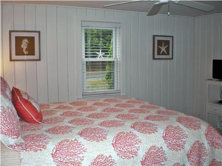 Centerville, craigville village Centerville vacation rental - Master bedroom w queen bed and tv & ceiling fan