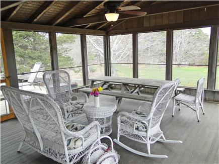 North Eastham Cape Cod vacation rental - Large screened in porch - opens to deck and back yard