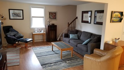 North Eastham Cape Cod vacation rental - Living Room with flatscreen TV, door to screened porch