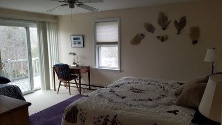North Eastham Cape Cod vacation rental - Master Bedroom, 2nd floor with king-size bed & private deck