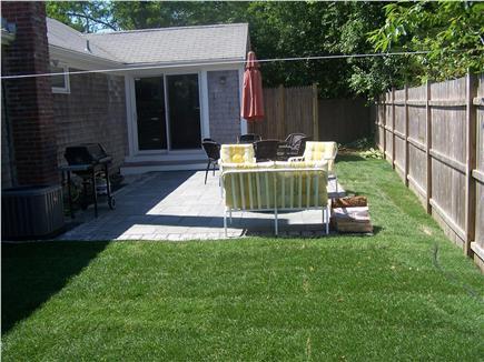 Dennisport Cape Cod vacation rental - Back yard and outdoor shower