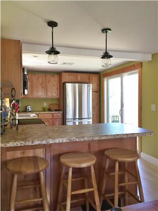Dennisport Cape Cod vacation rental - Slider in kitchen