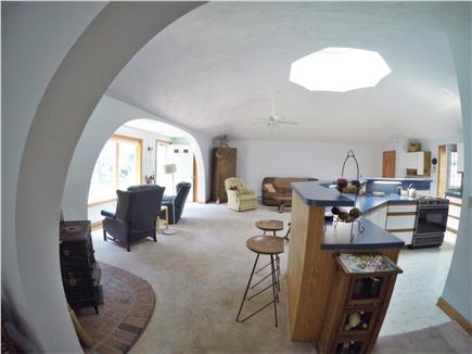 Brewster Cape Cod vacation rental - Large skylight lightens the living and kitchen area