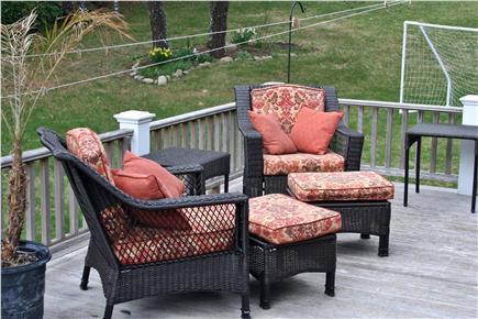 E. Harwich Cape Cod vacation rental - Cozy outside sitting.