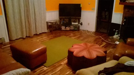E. Harwich Cape Cod vacation rental - Second Living room. Warm, spacious, TV & slider to the back deck.