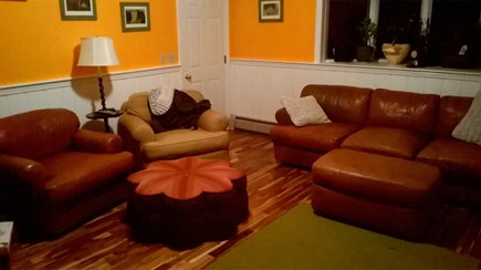 E. Harwich Cape Cod vacation rental - Second Living room. Warm, spacious, TV & slider to the back deck