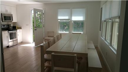 Harwichport Cape Cod vacation rental - Main house kitchen and large eating area, great for entertaining!