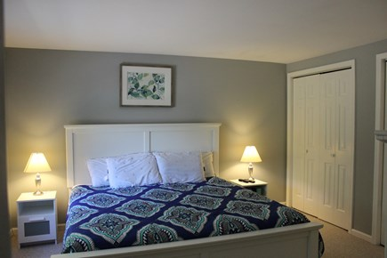 Dennisport Cape Cod vacation rental - Master Bedroom with king bed and half bath