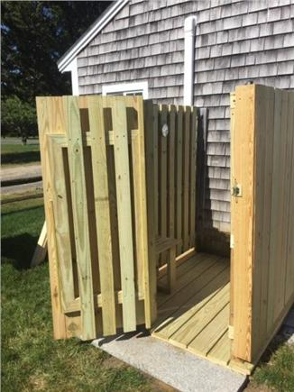 West Dennis Cape Cod vacation rental - New Outdoor Shower