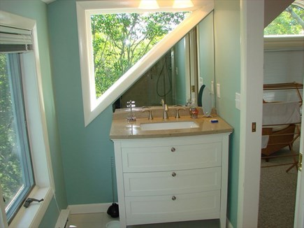 Provincetown Cape Cod vacation rental - Partial view of top floor bathroom