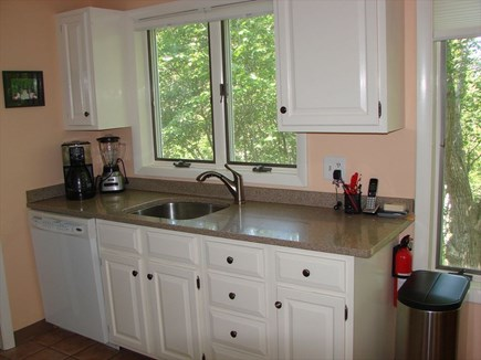 Provincetown Cape Cod vacation rental - One side of well-stocked kitchen with dishwasher