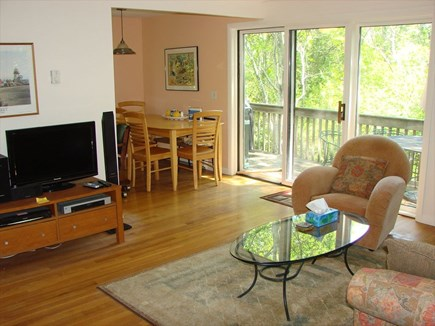 Provincetown Cape Cod vacation rental - Partial picture of living room, HD TV, and dining area