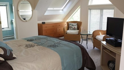 Provincetown Cape Cod vacation rental - Another view of top floor bedroom with king bed and ensuite bath