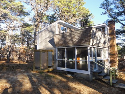 Wellfleet Cape Cod vacation rental - Fabulous enclosed out door shower, 2nd flr deck, screened porch