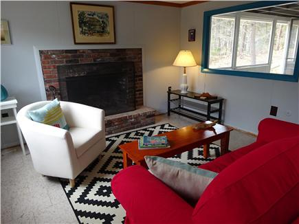 Wellfleet Cape Cod vacation rental - Living room opens to screened in porch
