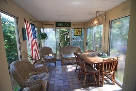 Dennis Port Cape Cod vacation rental - Enclosed porch perfect for morning coffee and relaxing