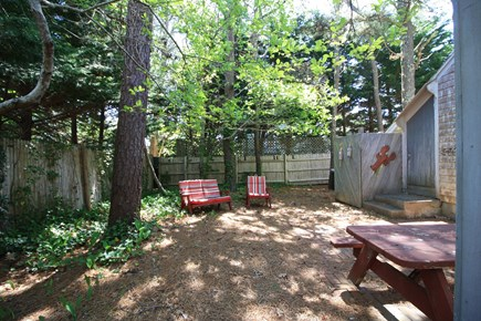 Dennis Port Cape Cod vacation rental - Shady and cool backyard