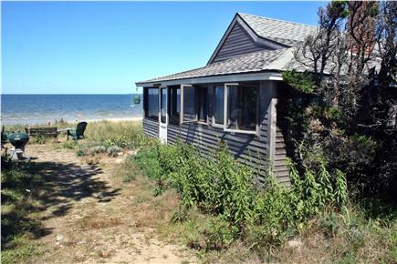 Brewster Cape Cod vacation rental - The lane ends at the cottage on the beach