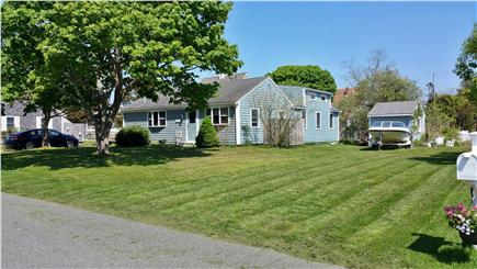 Barnstable Harbor Cape Cod vacation rental - Right Side yard, outdoor shower