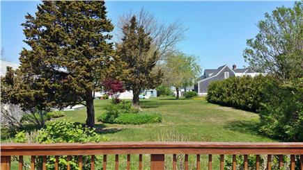 Barnstable Harbor Cape Cod vacation rental - Sitting on Backyard Deck, looking toward water 300 feet away