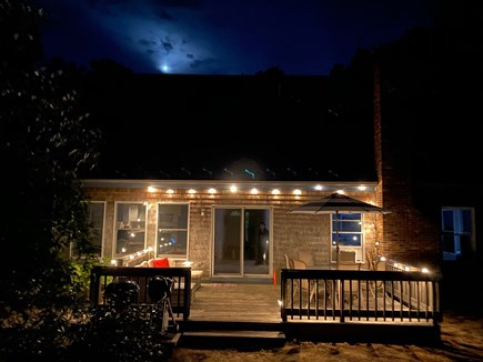 Wellfleet Cape Cod vacation rental - Night View From The Back Woods