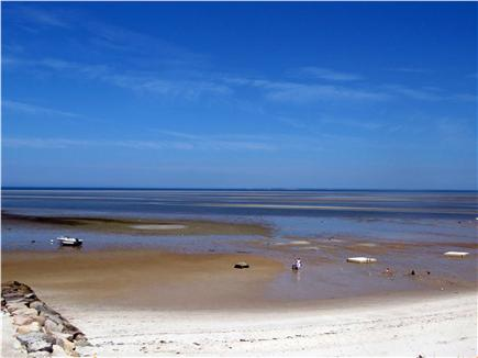 Brewster Cape Cod vacation rental - Low tide at beach