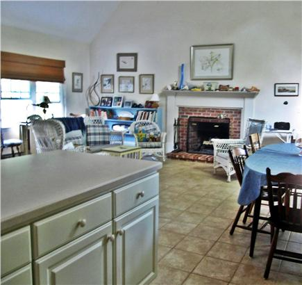 Brewster Cape Cod vacation rental - Family area with fireplace