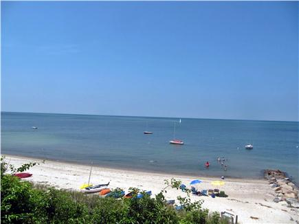 Brewster Cape Cod vacation rental - High tide on beach