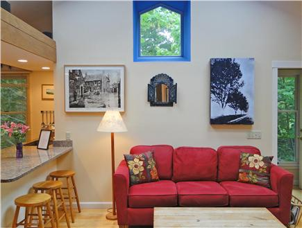 Brewster Cape Cod vacation rental - Comfortable air-conditioned living room with many skylights