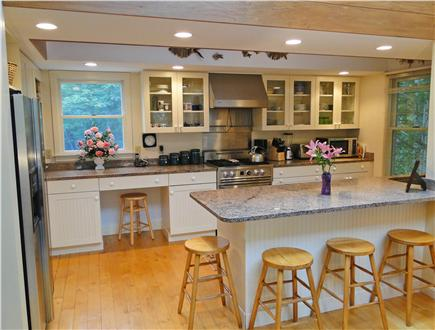 Brewster Cape Cod vacation rental - Beautiful modern kitchen with breakfast bar, top end appliances