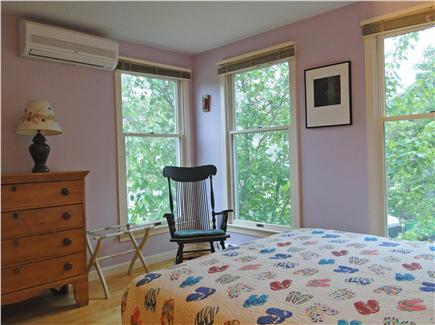 Brewster Cape Cod vacation rental - Queen bedroom with air conditioning and views of Cape Cod Bay