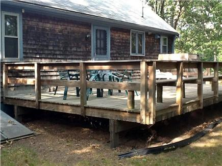 Eastham Cape Cod vacation rental - Side view of great back deck all ready for a relaxing day.