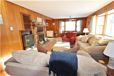 Eastham Cape Cod vacation rental - Large great living room and dining area runs from front to back.