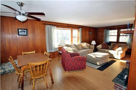 Eastham Cape Cod vacation rental - View of spacious living room and dining area great for eating fun