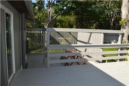 West Dennis Cape Cod vacation rental - Picnic table and outdoor shower