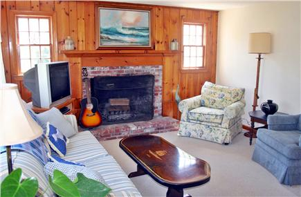 Chatham Cape Cod vacation rental - Comfy living room with TV/DVD. Note Fireplace NOT available.