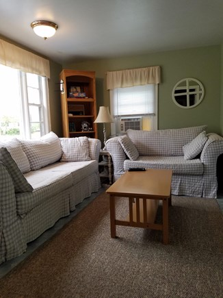 Eastham - Ocean Side minutes f Cape Cod vacation rental - Living Room - large couch and love seat couch. 46 flat screen TV