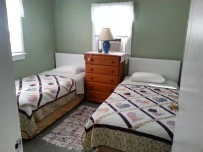 Eastham Cape Cod vacation rental - Back Bedroom with Twin Bed, Closet, Chest
