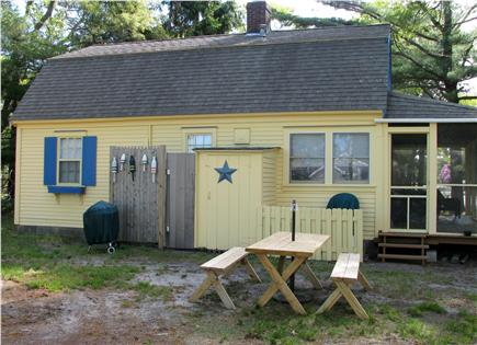 South Dennis Cape Cod vacation rental - Rear of house, Outdoor Shower