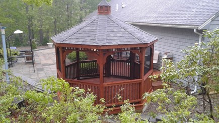 Dennis Cape Cod vacation rental - Fully screened gazebo for your peaceful diner!